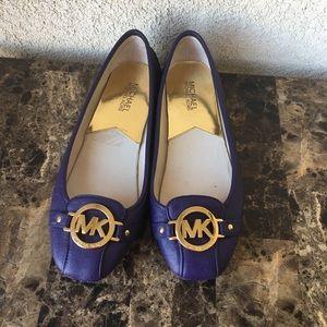Michael Kors purple flats shoes size 8M